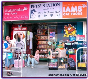 Happy pet shop girls.  Singapore Pets' Station.