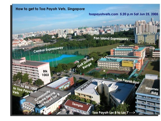 How to get to Toa Payoh Vets. Toa Payoh East, School, Golf Driving Range, Singapore